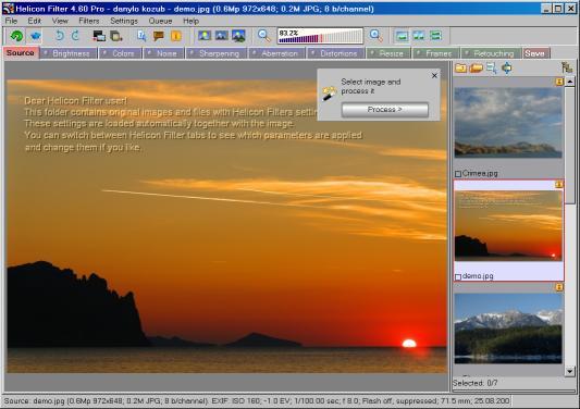 Helicon Filter - полнофункциональный графический редактор
