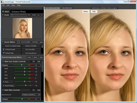 Portrait Professional - работаем над лицом