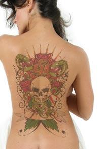 Татуировка в фотошоп