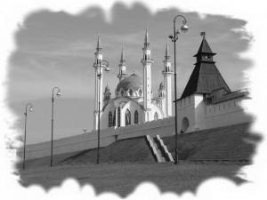 Черно-белая фотография. Казанский кремль