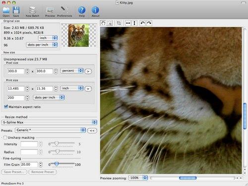 PhotoZoom Pro - программа для увеличения фотографий