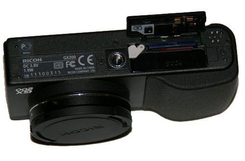 ricoh gx200 - аккумуляторный отсек