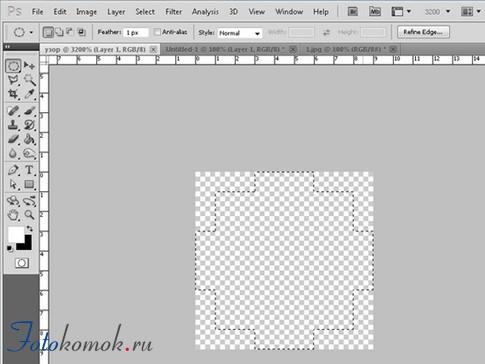 мозаика в фотошоп
