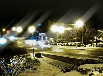 Ночной город в фотошоп