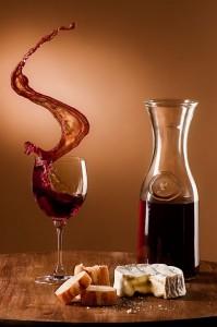 Schwappender Wein