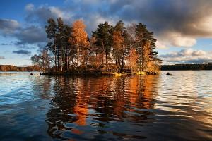 Озеро Вуокса на Карельском перешейке