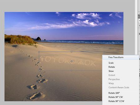 Текст на песке