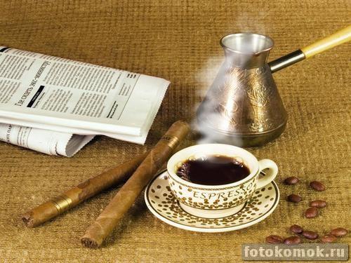 Добавляем пар к чашке с кофе