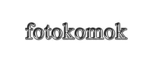 Металлический текст в фотошоп