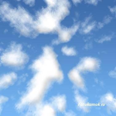 Рисуем морской пейзаж в фотошоп. Облака