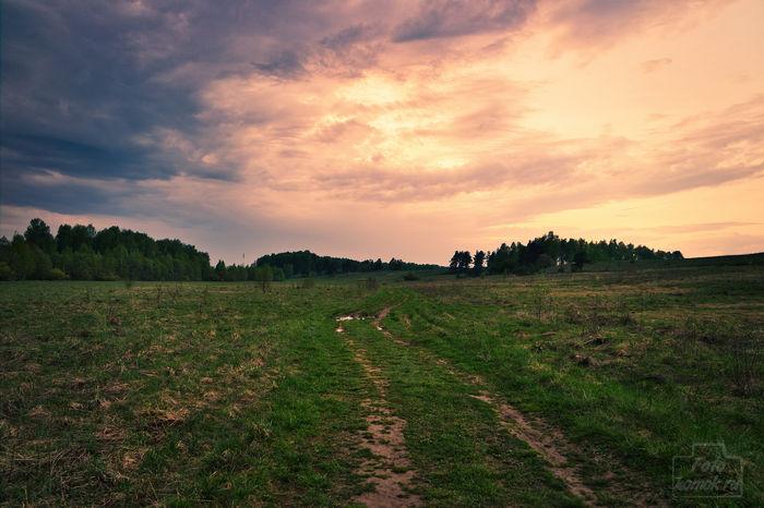 Закат после дождя