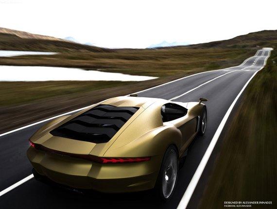 Lamborghini Miura concept GT-b