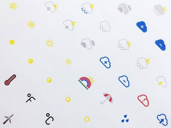 Сборник бесплатных наборов иконок для сайта - погода
