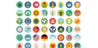 Коллекция бесплатных круглых иконок