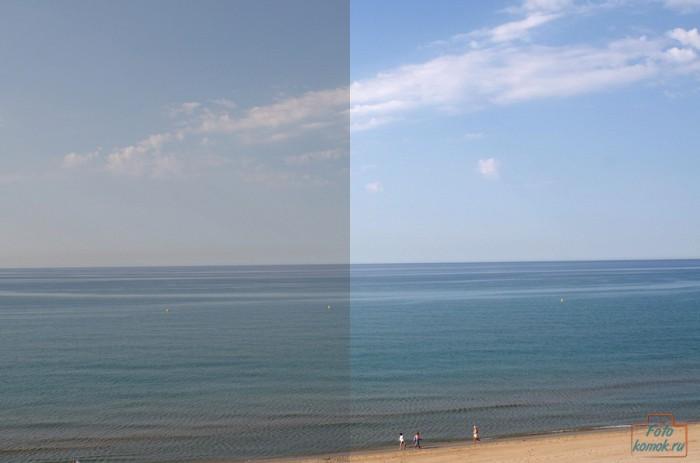До (слева) и после (справа) редактирования