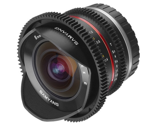 Неавтофокусный объектив Samyang 8 mm T3.1 UMC Fish-eye II