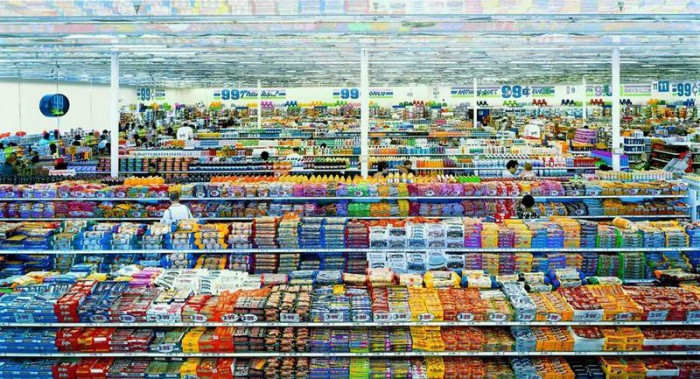 «99 центов», диптих (2001). Фотограф Андреас Гурски (AndreasGursky)