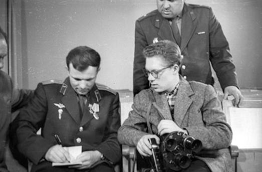 В.Базанов. Юрий Гагарин и Борис Смирнов. Центр подготовки космонавтов.