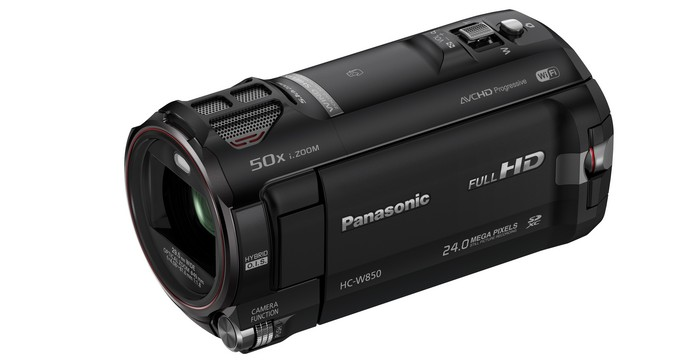 Видеокамера Panasonic HC-W850 . Верхняя часть.