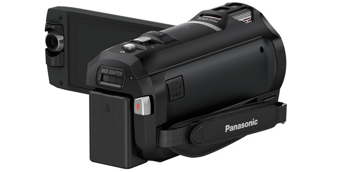 Видеокамера Panasonic HC-W850 . Задний торец.