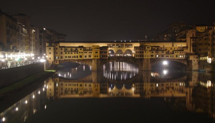 Ночная фотосъемка, Флоренция