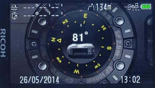 Компас Ricoh WG-4 GPS
