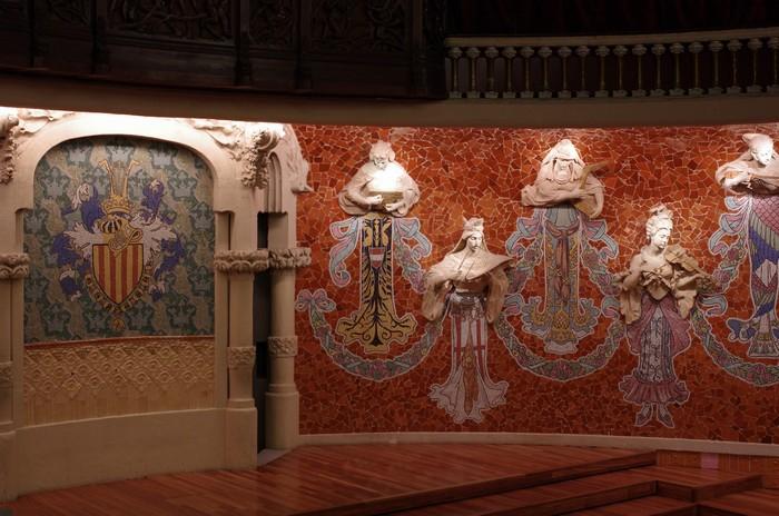 Дворец каталонской музыки - сцена