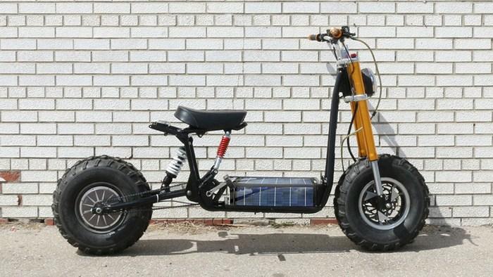 электрический скутер для бездорожья the beast