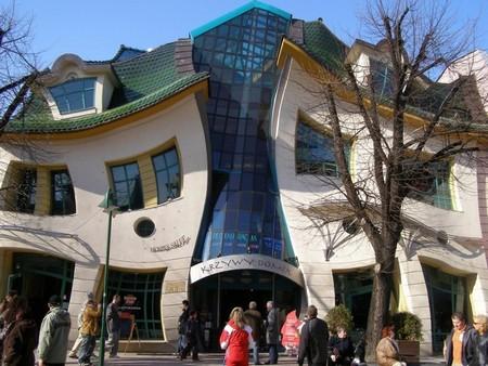 """""""Танцующий дом"""" в Сопоте."""
