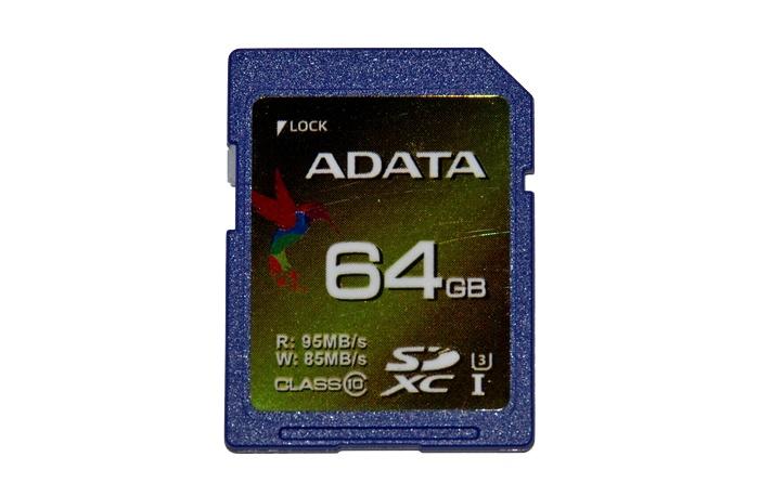 карта памяти ADATA XPG SDXC Class 10 UHS-I U3 64GB