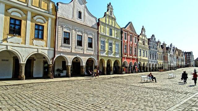 Телч, старый город