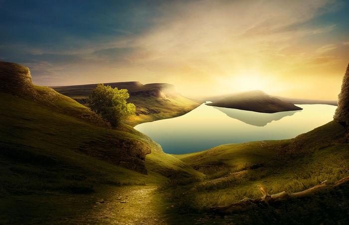 Пейзаж в контровом свете