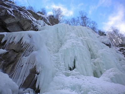 Замерзший водопад Рьюкан