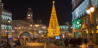 Новогодняя елка на площади Соль с Мадриде