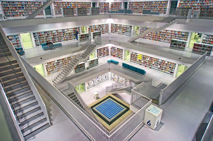 Штутгарт, городская библиотека