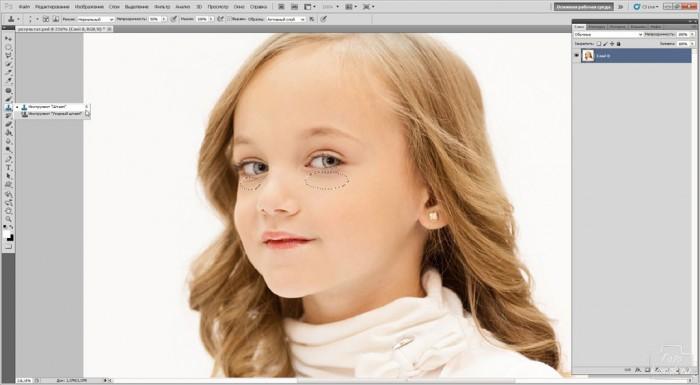 Ретушь детской фотографии