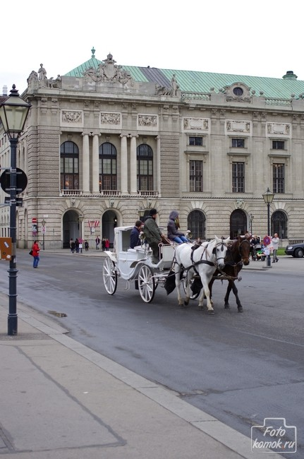 Конный экипаж в Вене