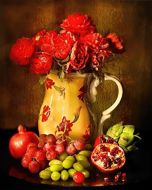 Натюрморт, фрукты
