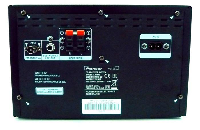 Pioneer X-PM12 вид сзади