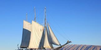 Парусник в водах Гренландии
