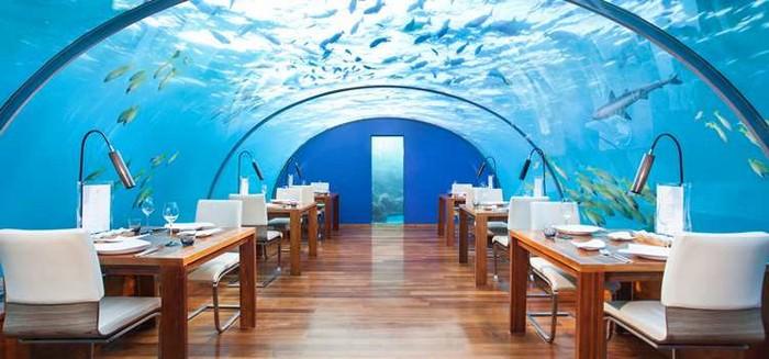 Ithaa, остров Рангали, Мальдивы. Ист:  http://conradhotels3.hilton.com/