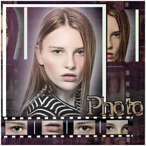 Коллаж в виде фотопленки
