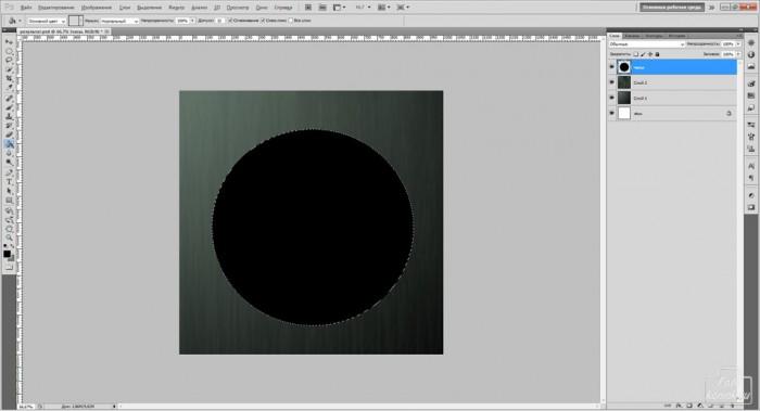 рисуем часы в фотошоп-03