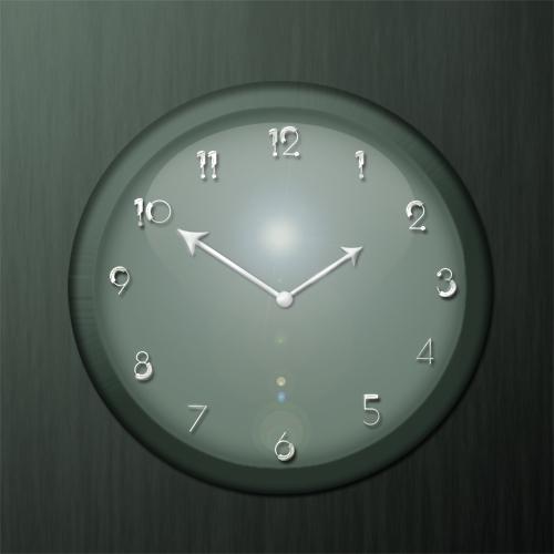 Часы в фотошоп