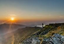 Восход солнца в Бескидах