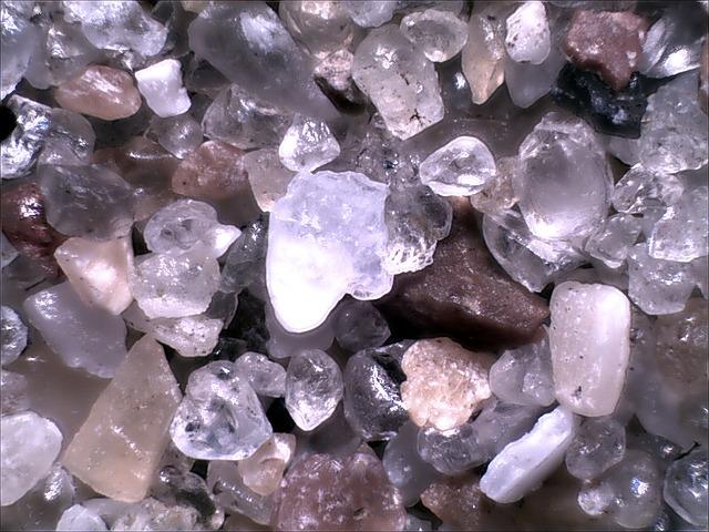 Микрофотография песка