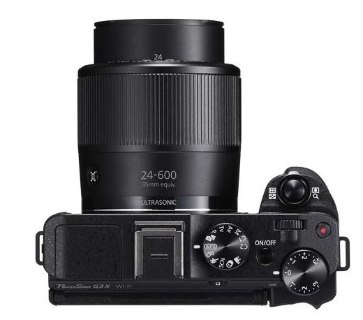 Canon PowerShot G3 X top