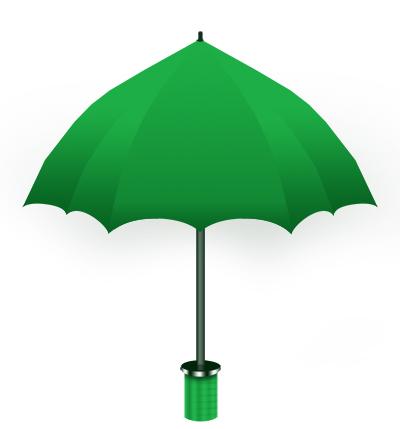 Зонт в Фотошоп