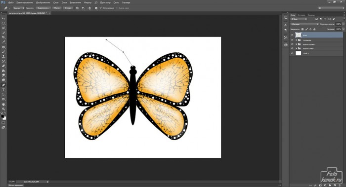 Иконка бабочка-25