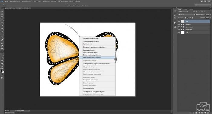 Иконка бабочка-27
